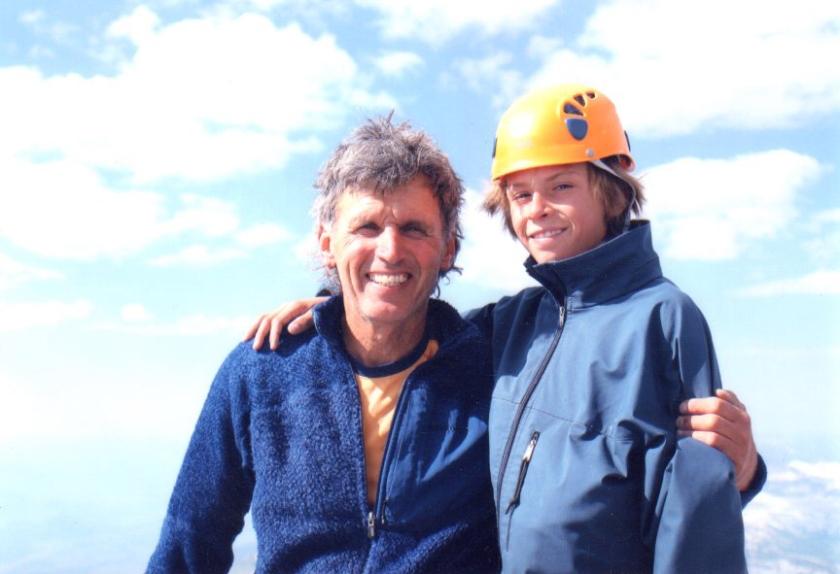 George & Michael summit the Grand Teton, 2004